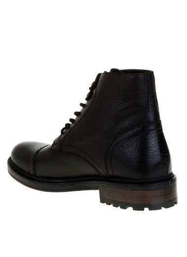Fabrika Fabrika Deri Siyah Klasik Ayakkabı Siyah